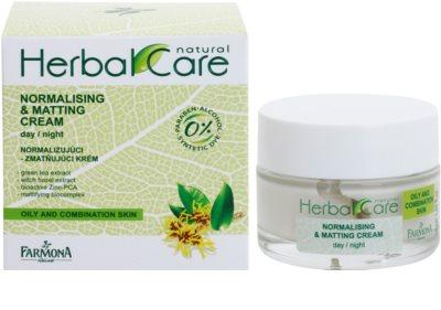 Farmona Herbal Care Green Tea crema de día y noche normalizante y matificante para pieles mixtas y grasas 1