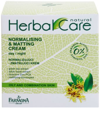 Farmona Herbal Care Green Tea crema de día y noche normalizante y matificante para pieles mixtas y grasas 2
