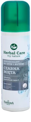 Farmona Herbal Care Black Mint desodorante en spray para pies y zapatos