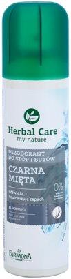 Farmona Herbal Care Black Mint dezodorant v spreji na nohy a do topánok