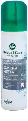 Farmona Herbal Care Black Mint dezodorant w sprayu do nóg i butów