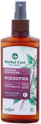 Farmona Herbal Care Nettle condicionador sem enxaguar em spray para cabelo e couro cabeludo oleosos
