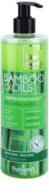 Farmona Hair Genic Bamboo & Oils champô reforçador para cabelo seco a danificado