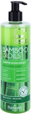 Farmona Hair Genic Bamboo & Oils champú revitalizador para cabello seco y dañado
