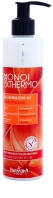 Farmona Hair Genic Monoi & Thermo regeneráló balzsam a hajformázáshoz, melyhez magas hőfokot használunk