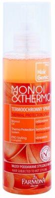 Farmona Hair Genic Monoi & Thermo védő spray a hajformázáshoz, melyhez magas hőfokot használunk