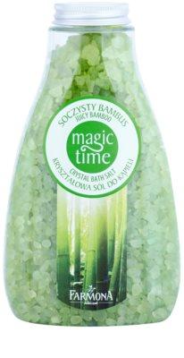 Farmona Magic Time Juicy Bamboo кристалічна сіль для ванни з мінералами
