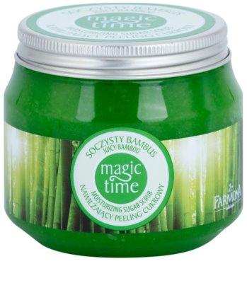Farmona Magic Time Juicy Bamboo exfoliante corporal con azúcar para hidratar y tensar la piel