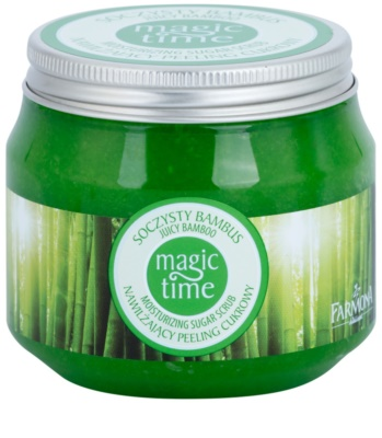 Farmona Magic Time Juicy Bamboo testpeeling cukorral a bőr hidratálásáért és feszességéért
