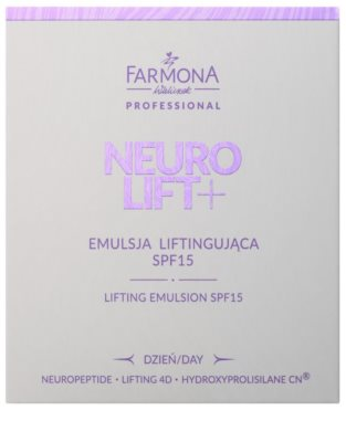 Farmona Neuro Lift+ liftingová emulzia SPF 15 2