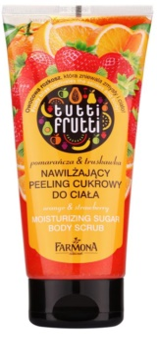 Farmona Tutti Frutti Orange & Strawberry vlažilni sladkorni piling za telo