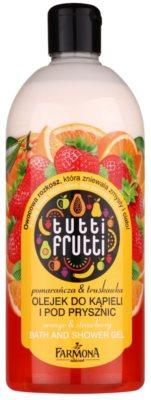 Farmona Tutti Frutti Orange & Strawberry Gel-Öl für Bad und Dusche