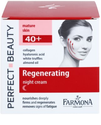Farmona Perfect Beauty 40+ crema de noapte efect regenerator 2