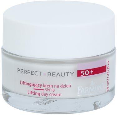 Farmona Perfect Beauty 50+ crema de zi cu efect lifting  SPF 10