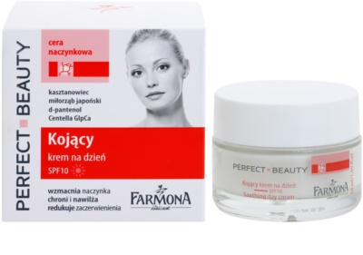 Farmona Perfect Beauty Capillary Skin beruhigende Tagescreme gegen Rötungen SPF 10 1