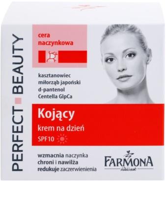 Farmona Perfect Beauty Capillary Skin beruhigende Tagescreme gegen Rötungen SPF 10 2