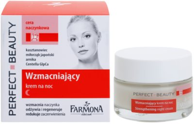 Farmona Perfect Beauty Capillary Skin crema de noche calmante para pieles sensibles con tendencia a las rojeces 1