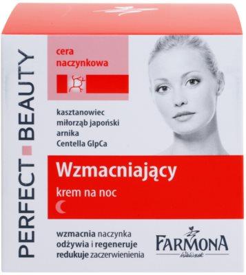 Farmona Perfect Beauty Capillary Skin crema de noche calmante para pieles sensibles con tendencia a las rojeces 2