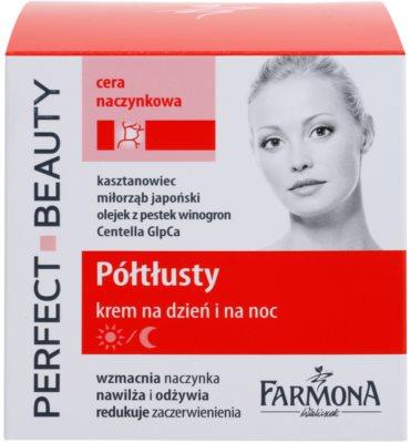 Farmona Perfect Beauty Capillary Skin nappali és éjszakai krém Érzékeny, bőrpírra hajlamos bőrre 1