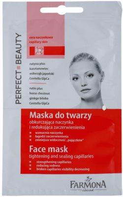 Farmona Perfect Beauty Capillary Skin arcmaszk a kitágult erekre és a visszérre