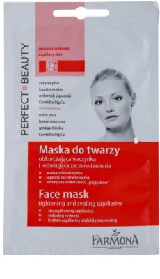 Farmona Perfect Beauty Capillary Skin máscara de pele para pequenos derrames no rosto