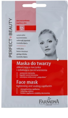 Farmona Perfect Beauty Capillary Skin mascarilla facial para combatir las venas agrietadas y dilatadas