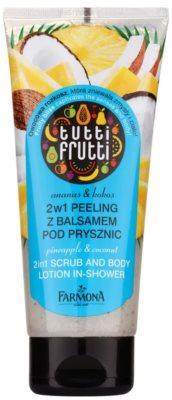Farmona Tutti Frutti Pineapple & Coconut пілінг для тіла та молочко для душа 2в1