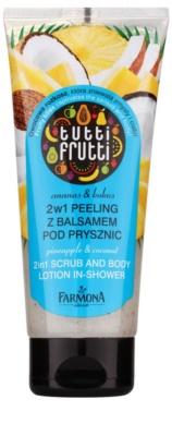 Farmona Tutti Frutti Pineapple & Coconut telový peeling a mlieko do sprchy 2v1
