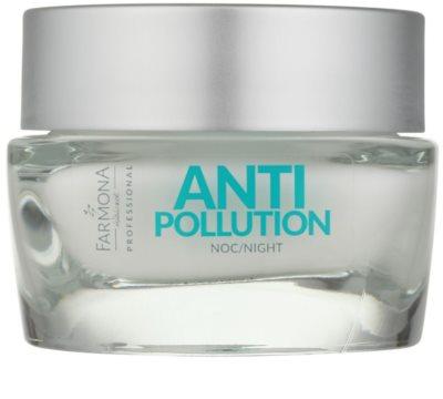 Farmona Anti Pollution krem na noc detoksujący o działaniu regenerującym