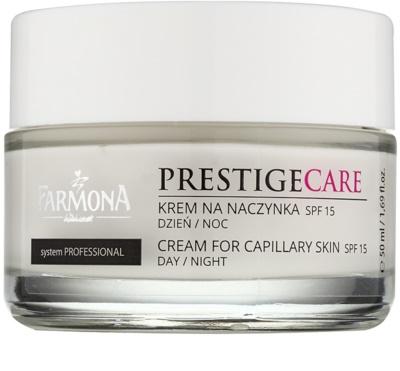 Farmona Prestige Care denní i noční krém k redukci začervenání a popraskaných žilek SPF 15