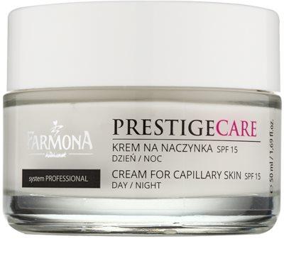 Farmona Prestige Care krem na dzień i noc zmniejszający zaczerwienienia i popękane żyłki SPF 15