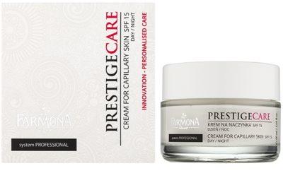 Farmona Prestige Care denní i noční krém k redukci začervenání a popraskaných žilek SPF 15 1