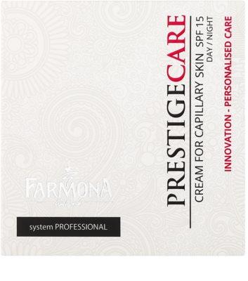 Farmona Prestige Care denní i noční krém k redukci začervenání a popraskaných žilek SPF 15 2