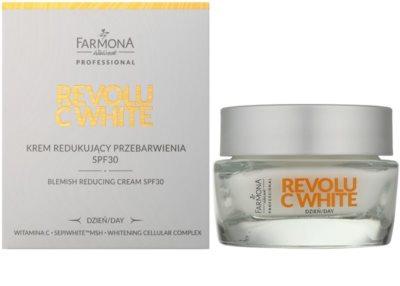 Farmona Revolu C White denní bělicí krém pro sjednocení barevného tónu pleti SPF 30 1