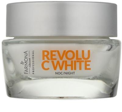 Farmona Revolu C White megújító éjszakai krém a pigment foltok ellen