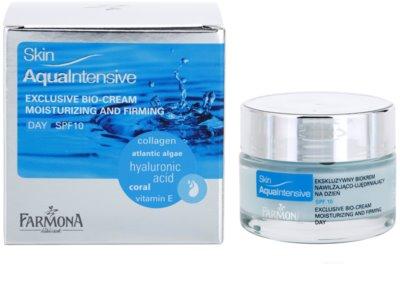 Farmona Skin Aqua Intensive creme de dia hidratante e reafirmante SPF 10 1