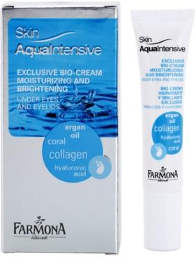 Farmona Skin Aqua Intensive feuchtigkeitsspendende und aufhellende Pflege für die Augenlider und Ringe unter den Augen 1