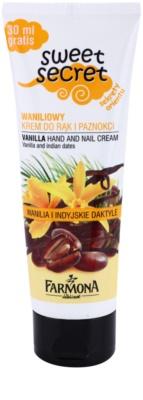 Farmona Sweet Secret Vanilla eine Crem zum Schutz von Händen und Nägeln