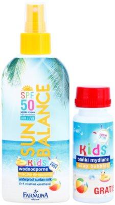 Farmona Sun Balance mleczko do opalania w sprayu SPF 50 z bańkami mydlanymi