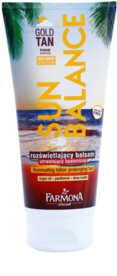 Farmona Sun Balance Bronz testápolótej hosszabbítja a napbarnítottságot