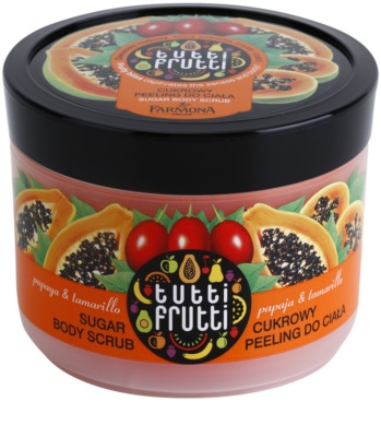 Farmona Tutti Frutti Papaja & Tamarillo exfoliant din zahar pentru corp