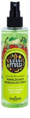 Farmona Tutti Frutti Pear & Cranberry mgiełka do ciała o dzłałaniu nawilżającym 1