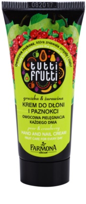 Farmona Tutti Frutti Pear & Cranberry crema para manos y uñas
