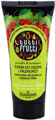 Farmona Tutti Frutti Pear & Cranberry creme para mãos e unhas
