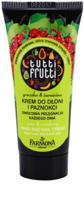 Farmona Tutti Frutti Pear & Cranberry eine Crem zum Schutz von Händen und Nägeln