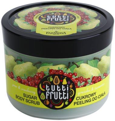 Farmona Tutti Frutti Pear & Cranberry cukrový peeling na tělo