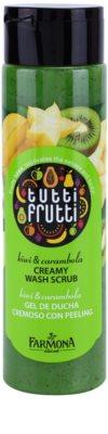 Farmona Tutti Frutti Kiwi & Carambola exfoliant cremos usor de spalat