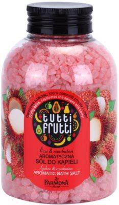 Farmona Tutti Frutti Lychee & Rambutan soľ do kúpeľa