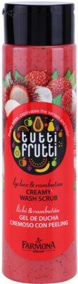 Farmona Tutti Frutti Lychee & Rambutan krémový sprchový peeling