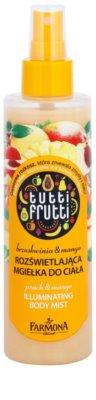 Farmona Tutti Frutti Peach & Mango třpytivá tělová mlha s vyhlazujícím a vyživujícím účinkem
